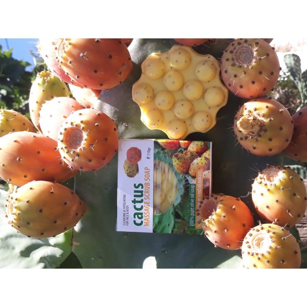 Cactus Massage Scrub Soap with Prickly Pear Seed Oil