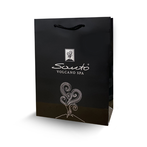 Santo Volcano Spa luxury gift bag - Black