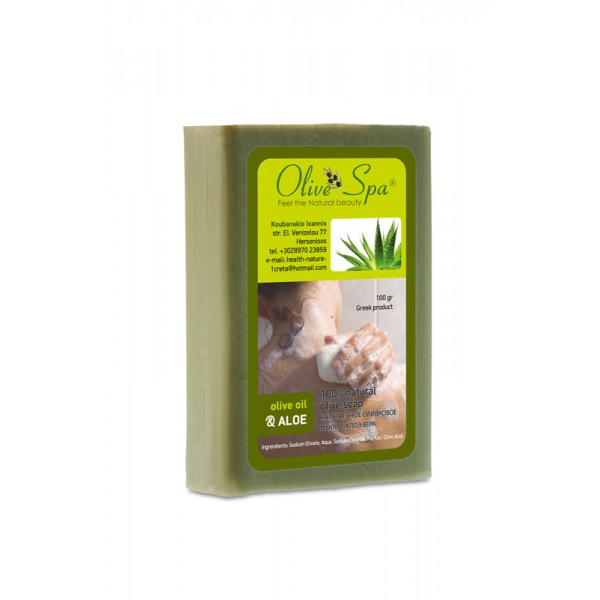 Natural Olive oil soap with Aloe 100gr