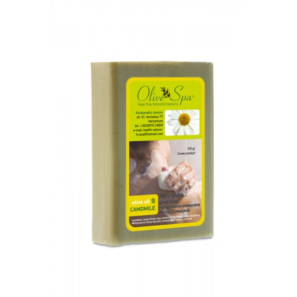 Natural Olive oil soap with Chamomile 100gr