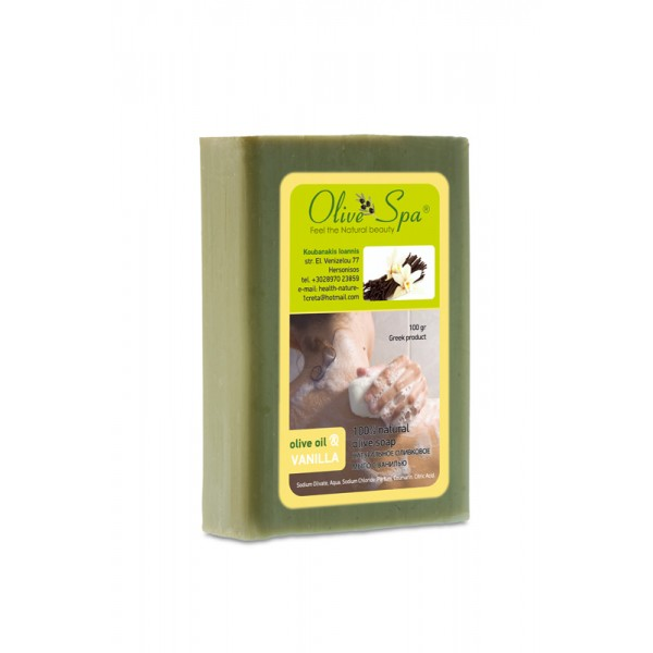 Natural Olive oil soap with Vanilla 100gr