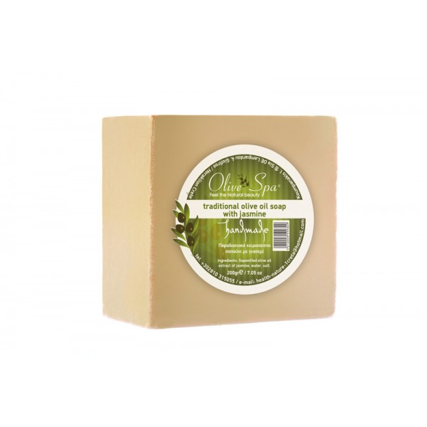 Traditional Handmade Olive oil soap with Jasmine 200gr